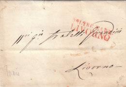 Tunesia Toscana Cover Carantine Entire 1841 Tunis ´D'OLTRE MARE LIVORNO´ 'LAZZARETTO SANT JACOPO' To Livorno (p114)