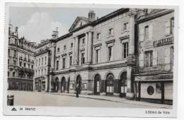 (RECTO / VERSO) BRIVE EN 1954 - N° 39 - L' HOTEL DE VILLE AVEC PERSONNAGE - BEAU CACHET - CPA - Brive La Gaillarde