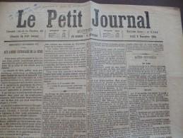 Journal Guerre De 1870 Le Petit Journal 3/11/1870 Siège De Paris,aux Gardes Nationales De La Seine - Journaux - Quotidiens