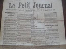 Journal Guerre De 1870 Le Petit Journal 4/11/1870 Siège De Paris,votes - 1850 - 1899
