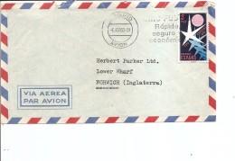 Exposition De Bruxelles -1958 ( Lettre Par Avion D'Espagne De 1958 De Madrid Vers La Grande-Bretagne à Voir)