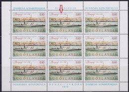 R5b. Yugoslavia 1979 Danube Conference, Error - Cracked Number 8, MNH (**) - Imperforates, Proofs & Errors