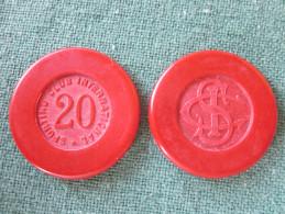 JETON 20F CASINO SPORTING CLUB INTERNATIONAL MONACO ANNEES 40? - Casino