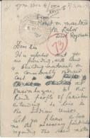 British India-Inde- King George VI 1/2A  1947 Cossim Bazar Raj Estate - Postal History  Official  Post Card-PC#479 - Postal Stationery