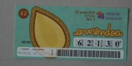 PORTUGAL   2015 - LOTARIA POPULAR -  4ª   - 2 SCANS - (Nº16127) - Biglietti Della Lotteria