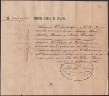 E4258 CUBA SPAIN ESPAÑA. 1863. SLAVE SLAVERY. DEPOSITO JUDICIAL ESCLAVOS  ESCLAVITUD. - Historical Documents