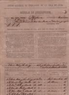 E4266 CUBA SPAIN ESPAÑA. 1861. PADRON DE INSCRIPCION. CENSO POBLACION POPULATION CENSUS PADRON - Documentos Históricos