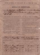 E4267 CUBA SPAIN ESPAÑA. 1861. PADRON DE INSCRIPCION. CENSO POBLACION POPULATION CENSUS PADRON - Historical Documents
