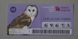 PORTUGAL   2016 - LOTARIA POPULAR -  6ª   - 2 SCANS - (Nº16174) - Lottery Tickets