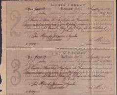 E4281 CUBA SPAIN ESPAÑA. 1885. HAVANA BANK LETTER OF EXCHANGE. 2 & 3 CHECK. L RUIZ. LETRAS DE CAMBIO. - Documentos Históricos