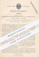 Original Patent - J. Conzen , Aachen , 1888 , Getriebe Zur Bewegung Des Krempelhackers , Spinnrad , Spinnerei , Spinnen - Historische Dokumente