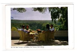 On The Hotel Terrace Overlooking The Victoria Falls Bridge - Zambie