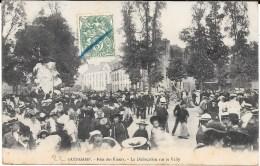 22 - GUINGAMP - Fête Des Fleurs - La Dislocation Sur Le Vally - Circulé En 1907 - Guingamp