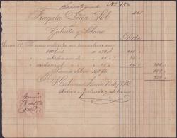 E4306 CUBA SPAIN ESPAÑA 1874. SHIP DOÑA SOL. ASTILLEROS DE ZULUETA Y SOBRINOS. RECIBOS REVENUE STAMP. - Documentos Históricos