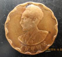 ÉTHIOPIE 25 Cents Haile Selassie, Lion éthiopien 1944, TTB - Ethiopie
