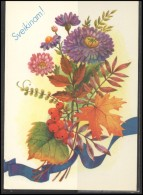RUSSIA USSR Stamped Stationery Post Card USSR PC 13-140 LITHUANIA Congratulations! Flowers - Ohne Zuordnung