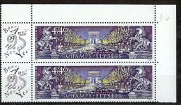 FRANCE VARIETES - CHAMPS ELYSEES Y/T 2918 ** -  BOULE ROUGE SUR CHEVL DE GAUCHE TAN - Varieteiten: 1990-99 Postfris