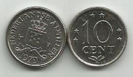 Netherland Antilles 10 Cent 1979. UNC - Antille Olandesi