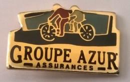 Pin´s -  Groupe Azur - Assurances - - - Banques