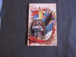 JEANNE D'ARC Et DRAPEAUX ALLIES - Guerre 1914-18