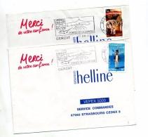 Lettre Flamme Gerzat Porte De Limagne 2 Types - Postmark Collection (Covers)