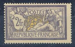 MERSON 2Fr Violet Jaune - N° 122 ** Neuf Sans Charnière Et Signé, Superbe - 1900-27 Merson