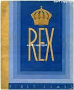 REX TURBONAVE RARA_MERAVIGLIOSA BROCHURE DI 38 PAGINE IN CARTA SPESSA_ ADVERTISING_PUBBLICITA´-ORIGINALE 100%D´EPOCA- - Publicités
