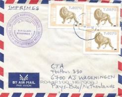 DRC Congo 2001 Kinshasa Lion Big Cat Cover - República Democrática Del Congo (1997 - ...)