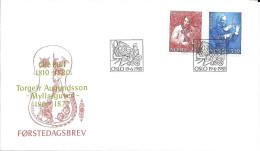 N°  585 / 586       EUROPA  NORVEGE    -  1985  -  FDC  MUSIQUE - FDC