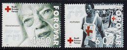 A0643 FAROE ISLANDS 2001, SG 404-5 75th Anniv Of Faroese Red Cross   MNH - Isole Faroer