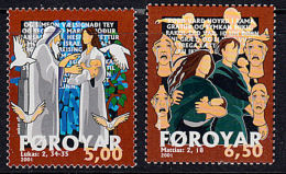 A0640 FAROE ISLANDS 2000, SG 398-9 Christmas  MNH - Isole Faroer