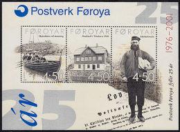B0477 FAROE ISLANDS 2001, SG MS406 25th Anniv Faroes Postal Administration   MNH - Isole Faroer