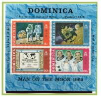 Dominique ** Bloc 2 - 1er Homme Sur La Lune - Ruimtevaart