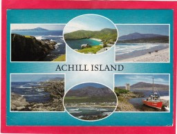 Post Card,Multi View Of ,Achill Island,Co.Mayo.,Posted With Stamp,L37. - Mayo