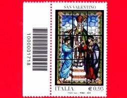 Nuovo - MNH - ITALIA - 2016 - Le Ricorrenze: San Valentino - Vetrata - Festa Innamorati - 0,95 € - Cod. A Barre 1718 - Code-barres
