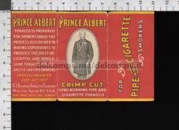 U5928 ETICHETTA PRINCE ALBERT CRIMP CUT TOBACCO CIGARETTE PIPE TABACCO (tur) - Publicités
