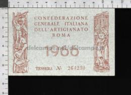 U5929 TESSERA CONFEDERAZIONE GENERALE ITALIANA DELL ARTIGIANATO 1966 (tur) - Organizzazioni