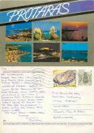 Protaras, Cyprus Postcard Posted 1998 Stamp - Chypre
