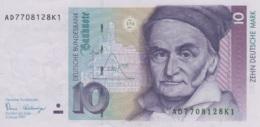 (B0525) GERMANY - FEDERAL REPUBLIC, 1989. 10 Deutsche Mark. P-38a. XF - [ 7] 1949-… : FRG - Fed. Rep. Of Germany