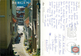 Bergen, Norway Postcard Posted 2001 Stamp - Noorwegen