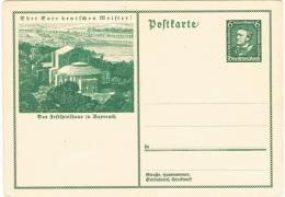 MUS-L118 - ALLEMAGNE Entier Postal Richard Wagner Illustré Opéra De Bayreuth - Musique