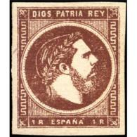 ES161STV-LFT***161STC.España.Spain. Espagne.REY CARLOS Vll.VASCONGADAS Y NAVARRA .1875.(Ed 161**)  Sin  Charnela - Carlistas
