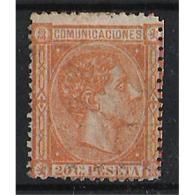 ES165STV-LFT***165STCFR.España.Spain. Espagne.REY ALFONSO Xll .1875.(Ed 175**)  Sin  Charnela - Familias Reales