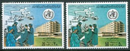 1980 Libia Libya Sanità World Day Of Health Anti-Smoking Campaign Set MNH** - Libya