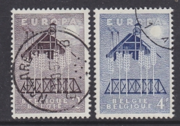 Europa Cept 1957 Belgium 2v Used (31994A) - Europa-CEPT
