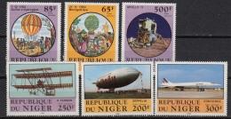 NIGER LP/PA 307-12  : Luchtvaart : Ballon – Avion – Apollo 11  (1983)  MNH ** - Niger (1960-...)