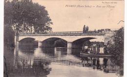 CPA Animée  (70)  PESMES Pont Sur L' Ognon Bac Passeur Canot Canotage Barque - Pesmes