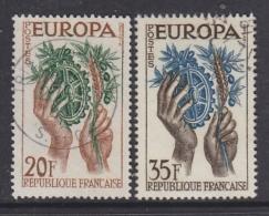 Europa Cept 1957 France 2v Used (31994C) - 1957