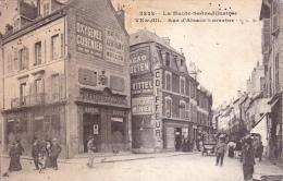CPA Animée  (70)  VESOUL Rue D' Alsace Lorraine Publicité Murale Oxygénée Cusenier Absinthe - Vesoul