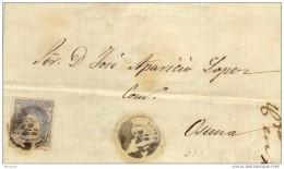 19096. Carta Entera Antequera (Malaga)  1870. Alegoria España - Cartas